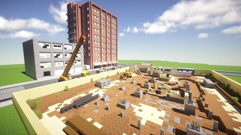 amazing Minecraft server build by pro players