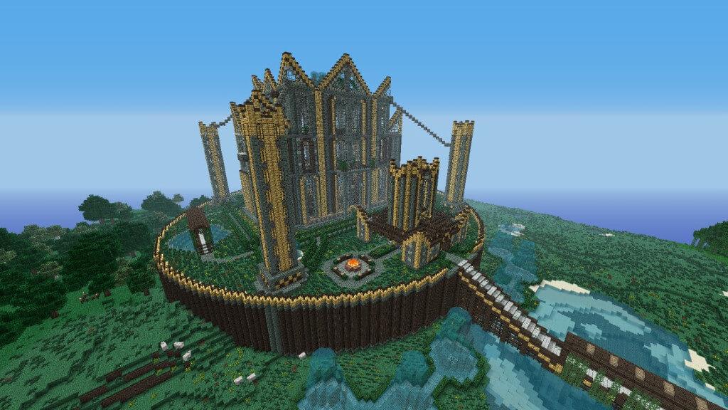 creative server build in Minecraft